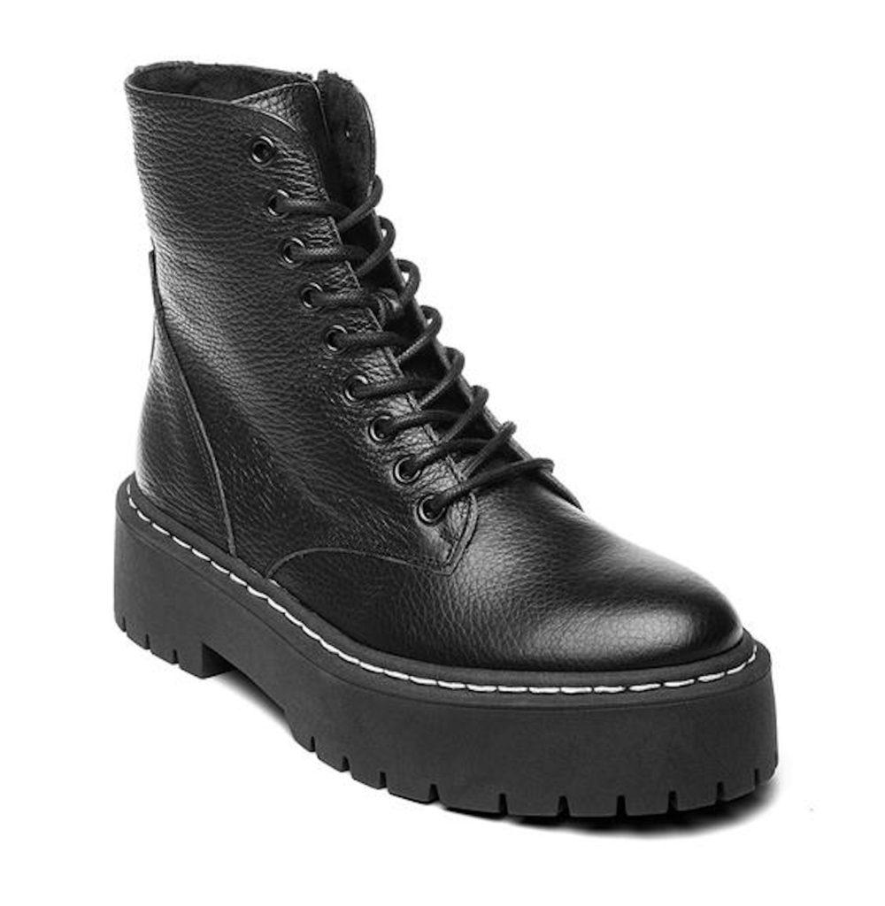 STEVE MADDEN SKYLAR Black Leather