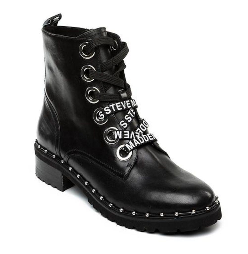 STEVE MADDEN TESS Black Leather