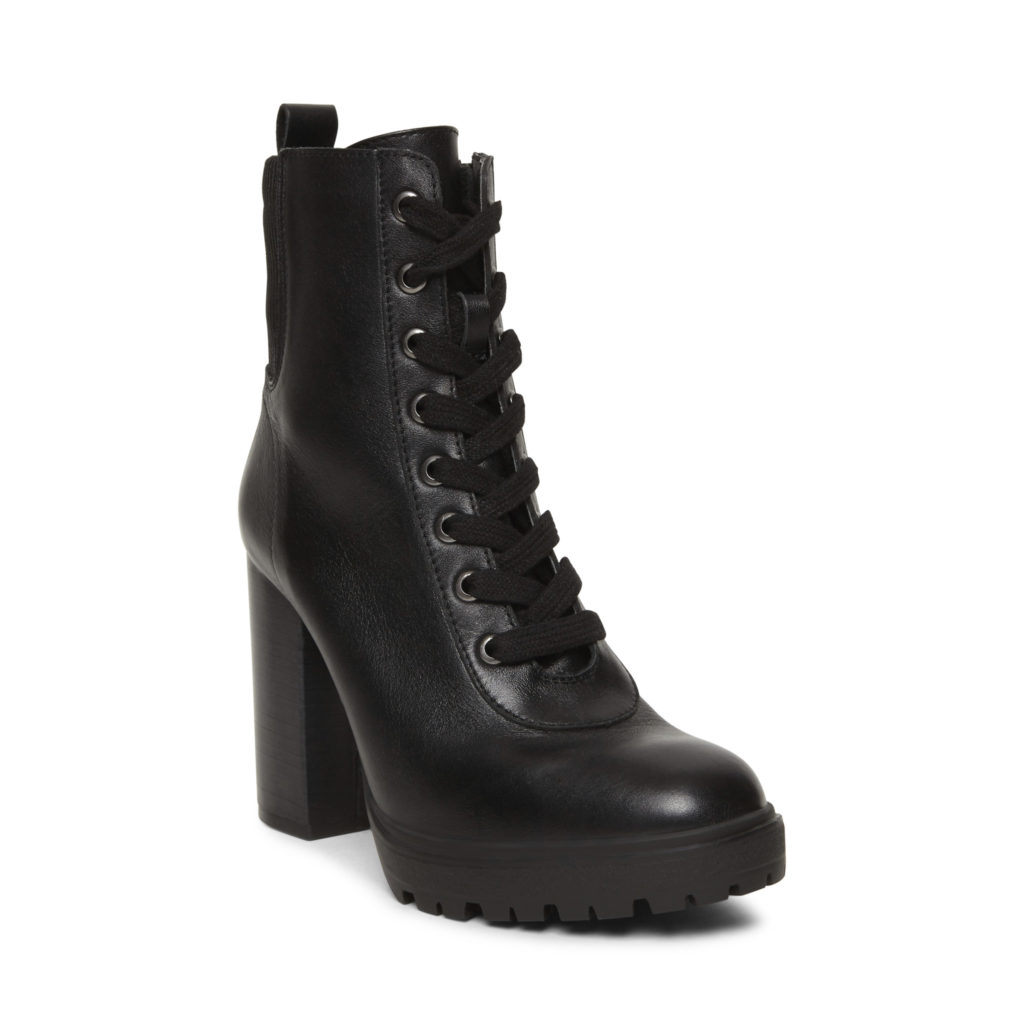 STEVE MADDEN LATCH Black Leather