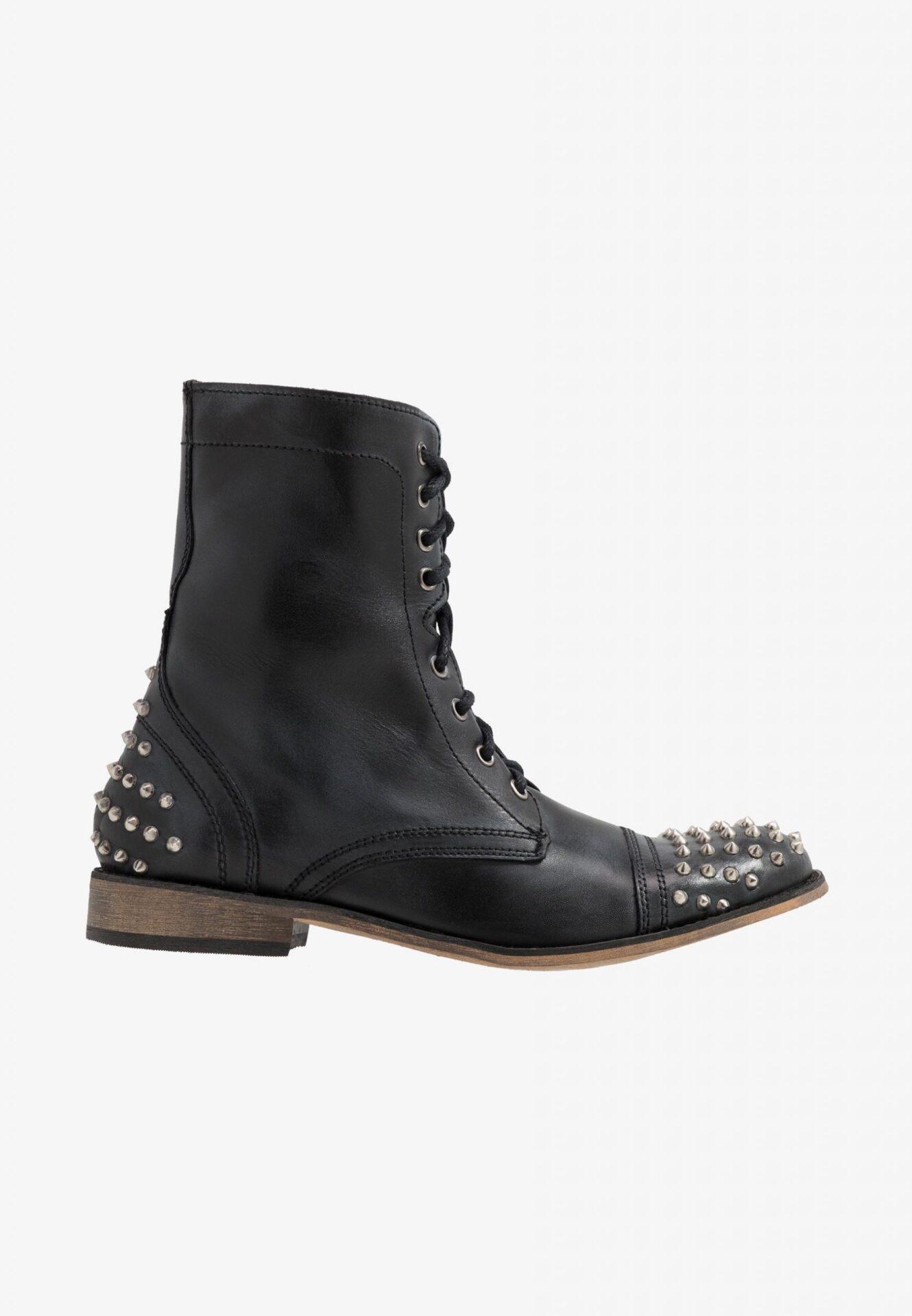 STEVE MADDEN TROOPER-S Black Leather
