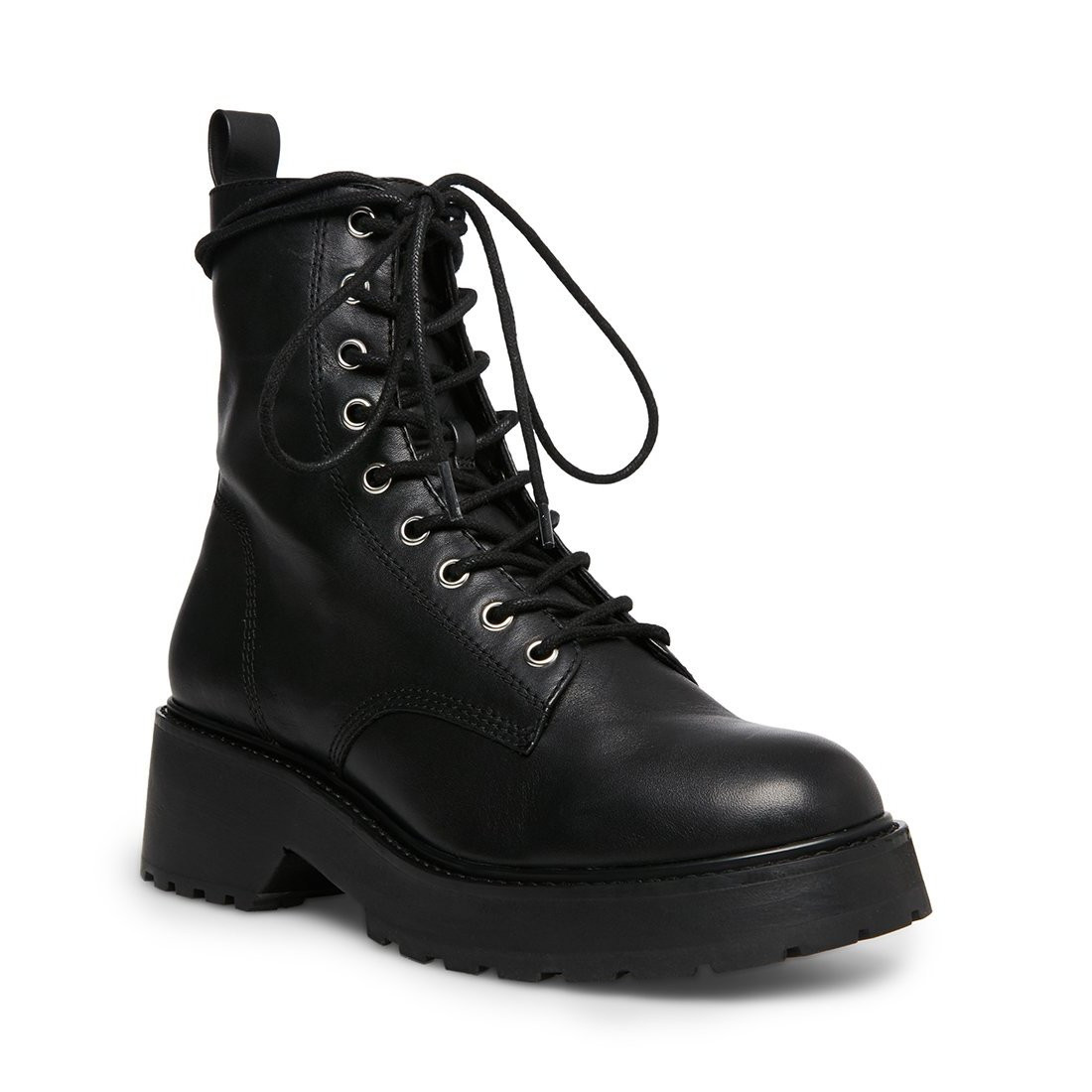 Steve Madden Tornado Black Leather