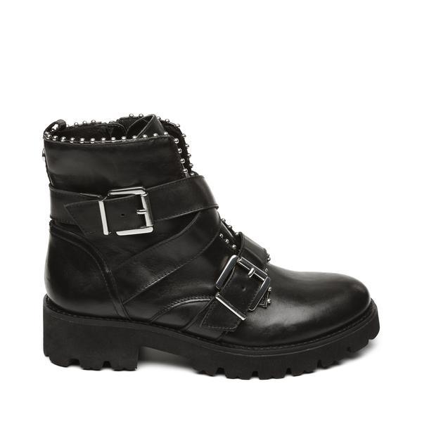 STEVE MADDEN HOOFY Black leather