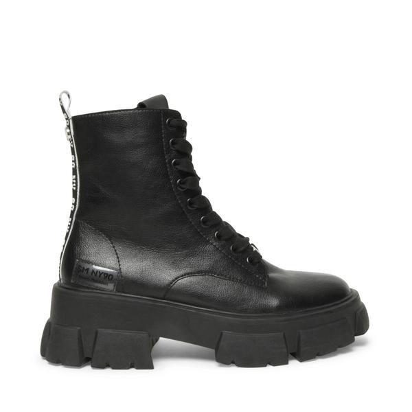 STEVE MADDEN TANKER Black leather
