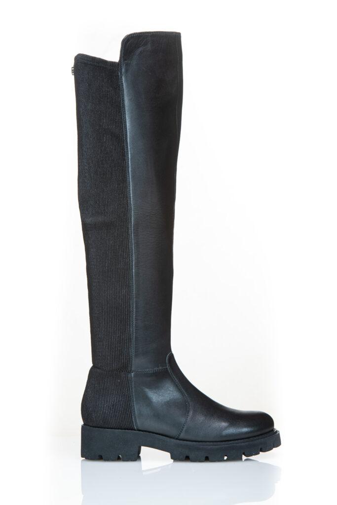 STEVE MADDEN HILLY Black leather
